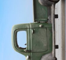 Old 1940s Plymouth Green Truck Sticker