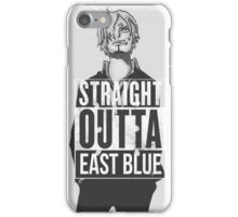 Sanji Straight outta East Blue iPhone Case/Skin