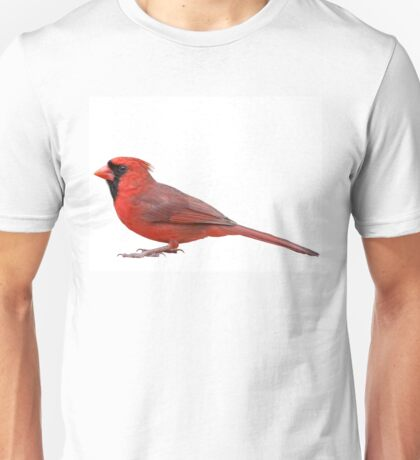 Northern Cardinal Isolated on White Background Unisex T-Shirt