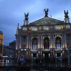 Lviv Opera House at twilight by Elena Skvortsova