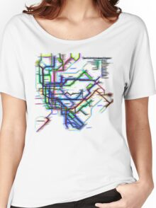 NYC Subway Map Women's Relaxed Fit T-Shirt