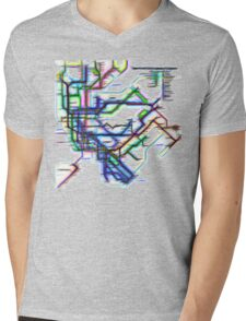 NYC Subway Map Mens V-Neck T-Shirt