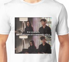 Lightwood sibling eye contact.  Unisex T-Shirt