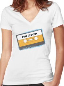Play It Cool Women's Fitted V-Neck T-Shirt