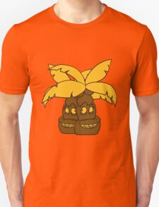 2 comic cartoon funny sweet small cute palm face, grinning monster Unisex T-Shirt