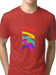 Rainbow stripes Tri-blend T-Shirt