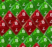 Red and  Green Scale Dice D8 Zig Zag Sticker