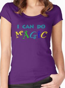 I can do magic, retro, playful, colourful Women's Fitted Scoop T-Shirt