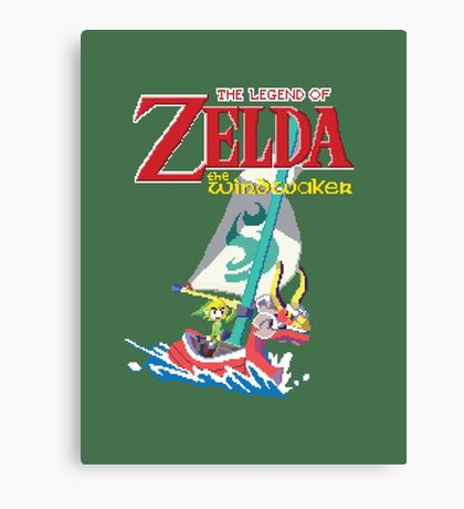 Pixel Windwaker Canvas Print