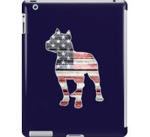 Patriotic Pitbull, American Flag iPad Case/Skin