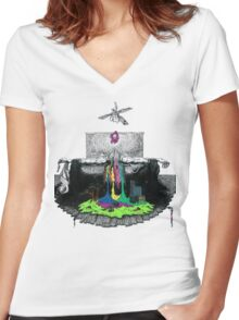 Ceiling Fans and Idle Hands Women's Fitted V-Neck T-Shirt