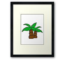 2 comic cartoon funny small palm sweet cute Framed Print