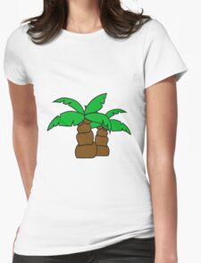 2 comic cartoon funny small palm sweet cute Womens Fitted T-Shirt