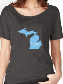 Michigan Home MI Pride Detroit Blue Women's Relaxed Fit T-Shirt