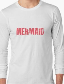 Mermaid (Red) Long Sleeve T-Shirt
