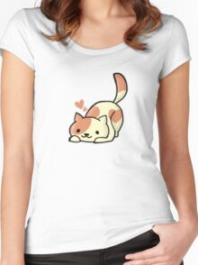 Peaches ( Neko Atsume ) Women's Fitted Scoop T-Shirt