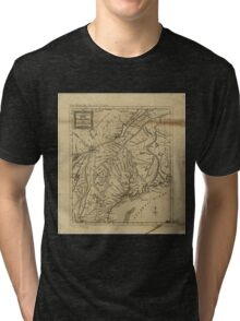 American Revolutionary War Era Maps 1750-1786 297 An Accurate map of New Hampshire in New England from a late survey Tri-blend T-Shirt