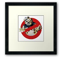 Bustin' Ghosts : The Marshmallow Framed Print
