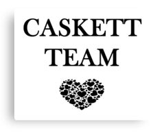 Caskett Team Canvas Print