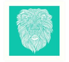 Mint Lion Art Print