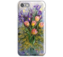 The Gift from Ariel. Irises, Tulips and Mimosa. iPhone Case/Skin
