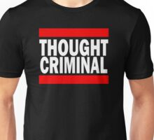 Thought Criminal - Black Background Unisex T-Shirt