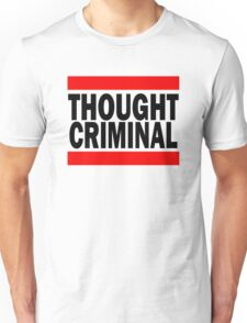 Thought Criminal - White Background Unisex T-Shirt