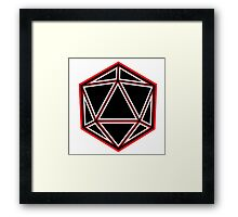Black and Red D20 Framed Print
