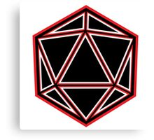 Black and Red D20 Canvas Print