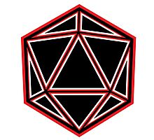 Black and Red D20 Photographic Print