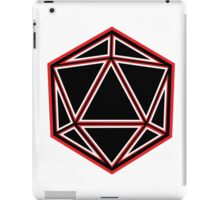 Black and Red D20 iPad Case/Skin