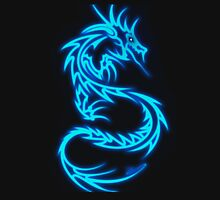 Dragon neon bleue Unisex T-Shirt
