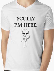 Scully I'm here. Mens V-Neck T-Shirt