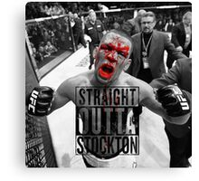 Straight Outta stockton bloody Canvas Print