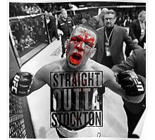 Straight Outta stockton bloody Poster