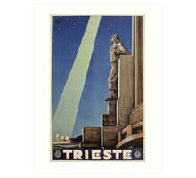 Vintage Art Deco Trieste Italian travel Art Print