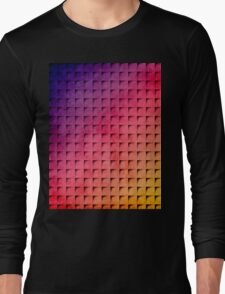 Colorful Geometric Grunge Weave Long Sleeve T-Shirt