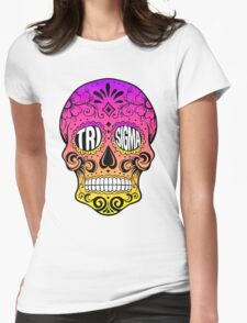 Tri Sigma Skull Womens Fitted T-Shirt
