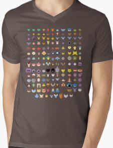 Original 151 Pokemon Mens V-Neck T-Shirt