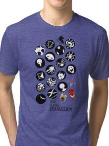 The Neon Genesis Evangelion Crew! Tri-blend T-Shirt
