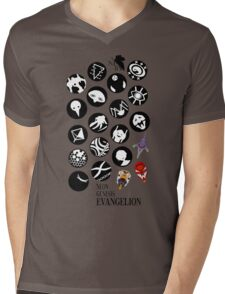 The Neon Genesis Evangelion Crew! Mens V-Neck T-Shirt
