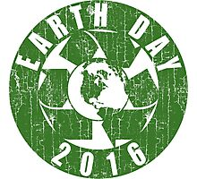 Vintage Earth Day Recycle 2016 Photographic Print