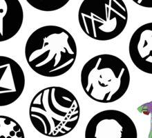The Neon Genesis Evangelion Crew! Sticker