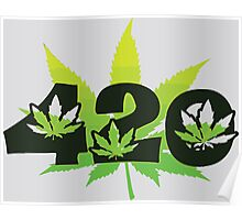 420 Weed Leafs Poster