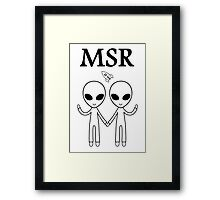 MSR X-Files Framed Print