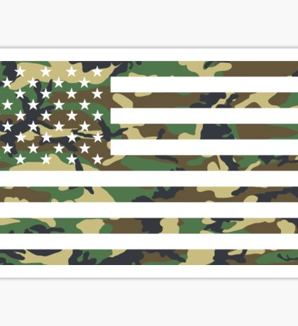 USA Flag - Camouflage - Horizontal Sticker