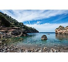 "Cala Deià Cove, as used in scenes for ""The Night Manager"" Series on BBC Photographic Print"