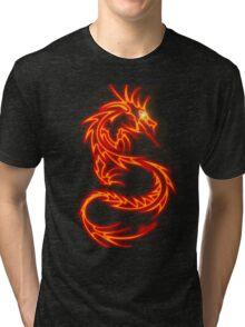 Dragon neon rouge Tri-blend T-Shirt