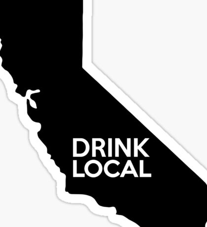 California Drink Local CA Sticker