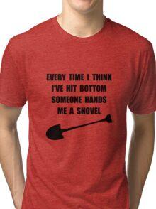 Bottom Shovel Tri-blend T-Shirt